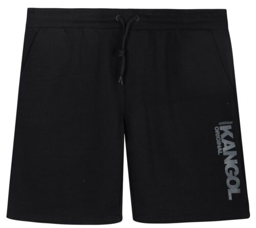 New Mens Kangol Half Pants Jogging Fleece Lined Drawcord Gym Shorts BigSizes