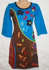 Big Sizes Embroidered Cotton Dress Ethnic Boho Ethical Hippie Fair Trade Nepal