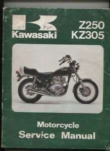 N°55 / Kawasaki Z250 Kz 305 Service Manual English Text February 1981 Am9s40bj-07225004-827090317