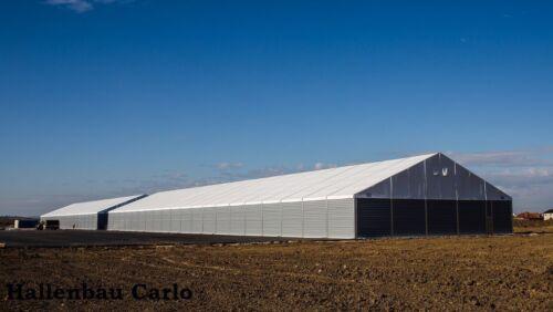 Lagerzelt Lagerhalle gebraucht 25x95x4.5 Aluminium Plane Trapezblech Halle