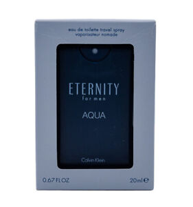 mini spray Eternity Aqua by Calvin Klein 0.67 oz Cologne for Men New In Box