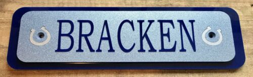 Customised stable door horse name plaque sign plate any colours-gift-Plaques1