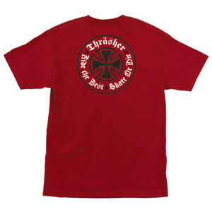 1cca3ec7e967 Image is loading Thrasher-x-Independent-Oath-Mens-T-Shirt-Red