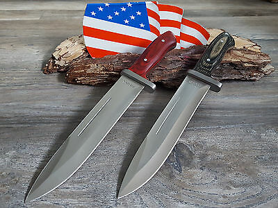 2 Coltelli Coltello Da Caccia Bowie Knife Hunting Cuchillo Coltello Coltello Cespuglio- Sentirsi A Proprio Agio