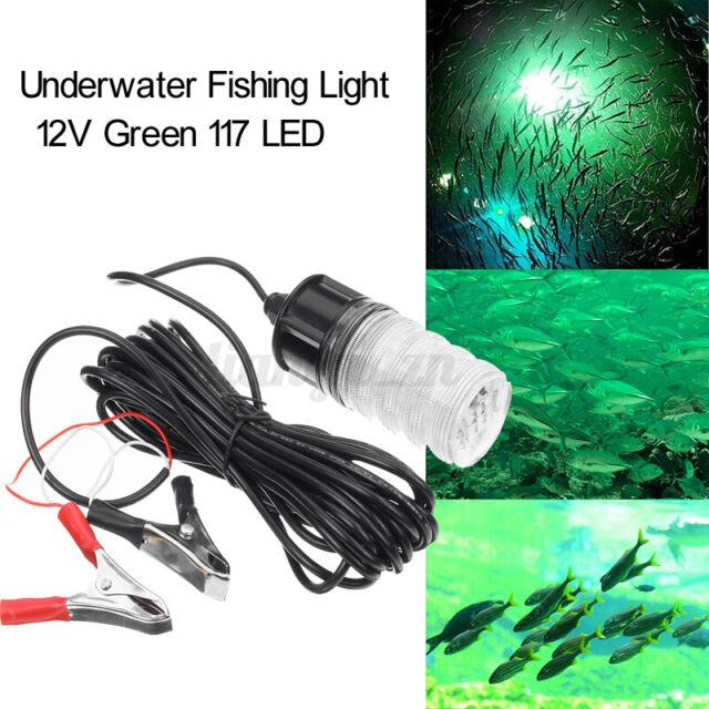 20W Underwater 117LED Fishing Light Submersible Boat Squid Fish Prawn Night Lamp