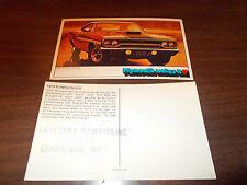1970 Plymouth GTX 2-Door Hardtop Advertising Postcard