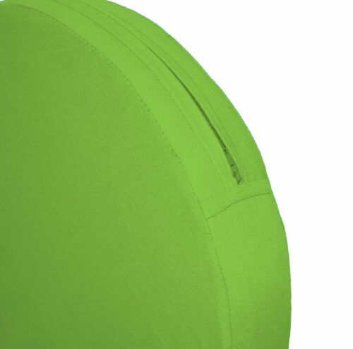 aa142r Lime Green Cotton Canvas 3D Round Shape Seat Cushion Cover Custom Size