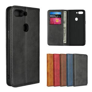 Pour-Oppo-R15-Pro-NEO-Luxe-Magnetique-en-Cuir-Portefeuille-Flip-Case-Housse-de-protection