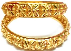 24k Gold Plated Indian Kada Bangle
