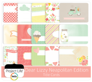"Neapolitan Project Life Taster Sample Pack 4/""x6/"" /& 3/""x4/"" Cards Journaling x50"