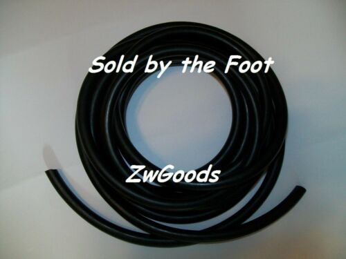 """3//8/"""" I.D x 1//16/"""" w x 1//2/"""" O.D Surgical Latex Rubber Tubing Black By The Foot"""