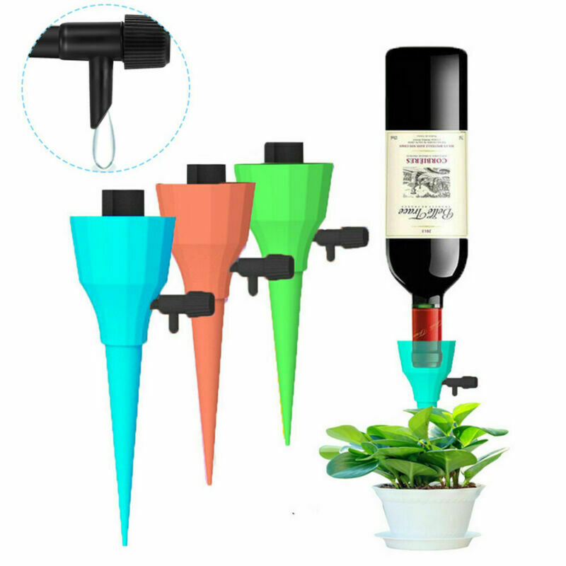 12Pcs Automatic Self Watering Spikes System Garden Home Plant Pot Waterer Tools
