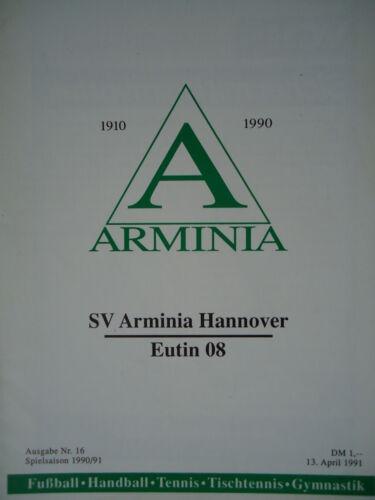 Fanmagazine & Programmhefte Eutin 08 Programm 1990/91 SV Arminia Hannover Sammeln & Seltenes