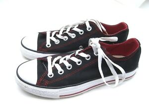 6f5bf71093a1 Converse All Star black red canvas sneakers tennis shoes Womens 8M ...
