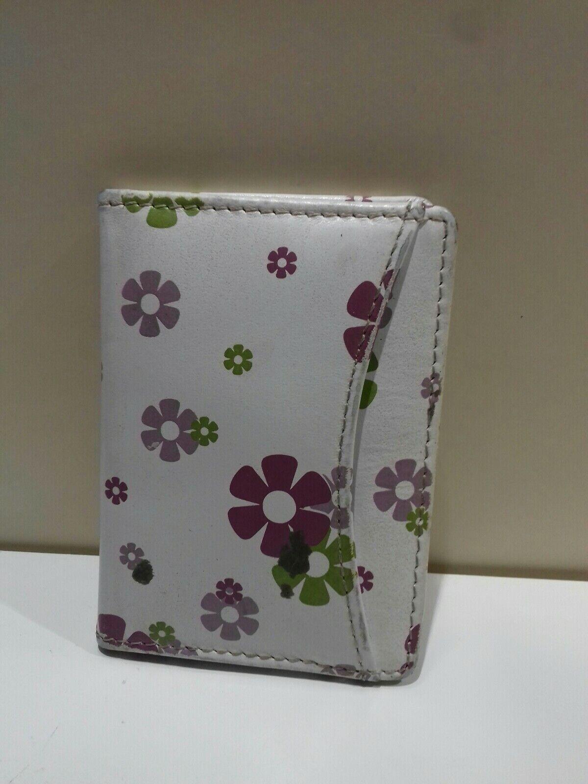 Julie Slater Floral Leather ID Card Holder Wallet