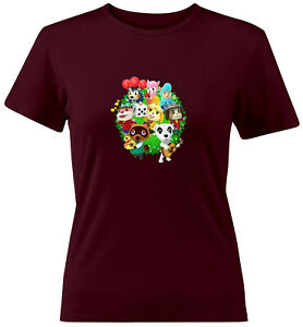 Animal-Crossing-Isabelle-K-K-Slider-Group-Juniors-Women-Tee-T-Shirt-Gift-Shirts