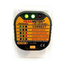 Peak Meter Outlet Tester With Gfci Test 110v Us Electric Plug Socket 50 60hz