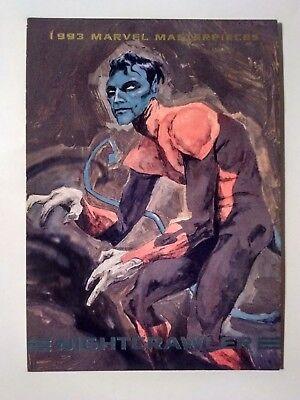 1993 Nightcrawler marvel masterpieces #72