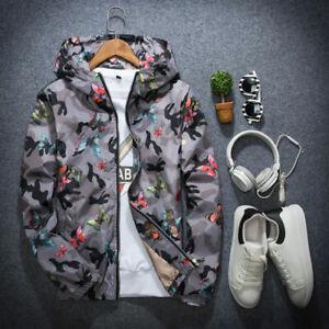 Men-039-s-Zipper-Short-Hoodie-Jacket-Wind-Coat-thin-outwear