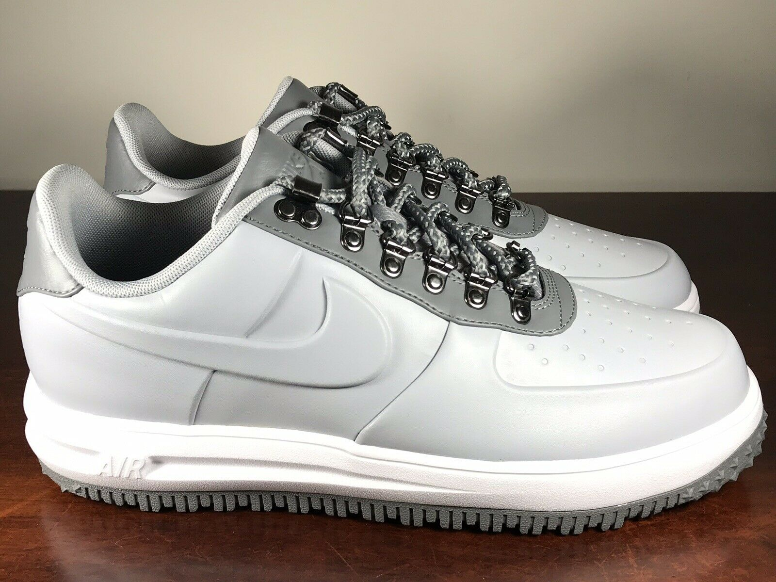 Men's Nike Lunar Air Force 1 Duckboot Boots Cool Grey AA1125-002 Size 10.5