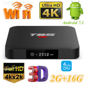 Details about T95S1 Smart TV Box S905W WiFi 4K HD 3D 2G+16G Quad Core Media  Player Android 7 1