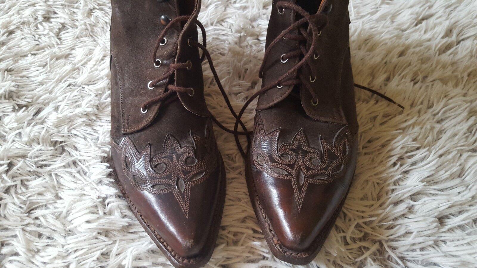 Stiefel Leder Leder Stiefel Cowgirlstiefel braun Gr. 38 dae06f