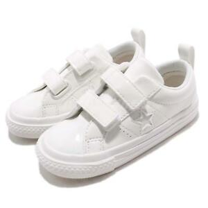 5ed5e27a15f Converse One Star 2V Triple White Patent Leather TD Toddler Infant ...