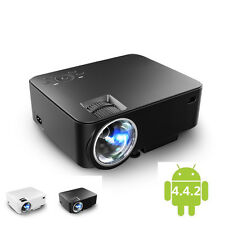2 in 1 LED Projector + TV BOX 2000 Lumens in Android WIFI Bluetooth Smart Beamer
