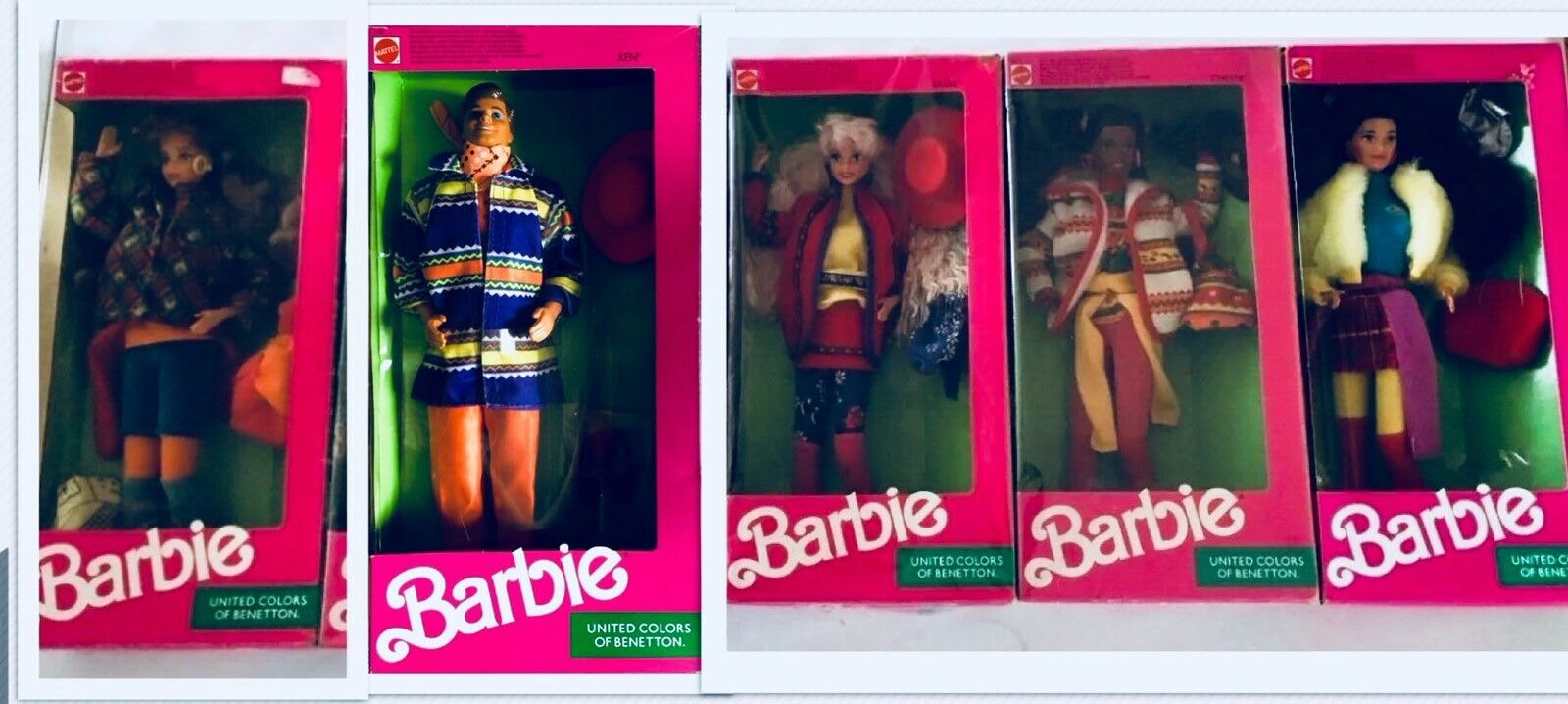 BARBIE & FRIENDS 1990 - UNITED ColoreeeS OF BENETTON NRFB