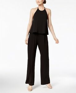 Calvin-Klein-Women-s-Size-6-Popover-Crepe-Pants-Jumpsuit-Cocktail-Party-Dress
