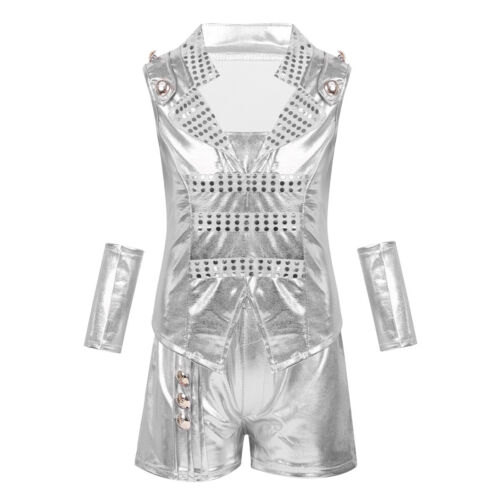 Unisex Kid Jazz Dance Costume Girl Boy Hip Hop Street Dance Outfit Dancewear Set