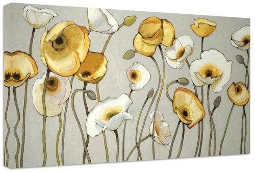 Quadri Moderni Fiori Gialli Girasoli Arredamento Casa cm.100x50 Stampa Tela Arte
