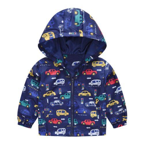 UK Infant Toddler Kids Baby Girls Boys Cartoon Hooded Coat Casual Jacket Tops AB