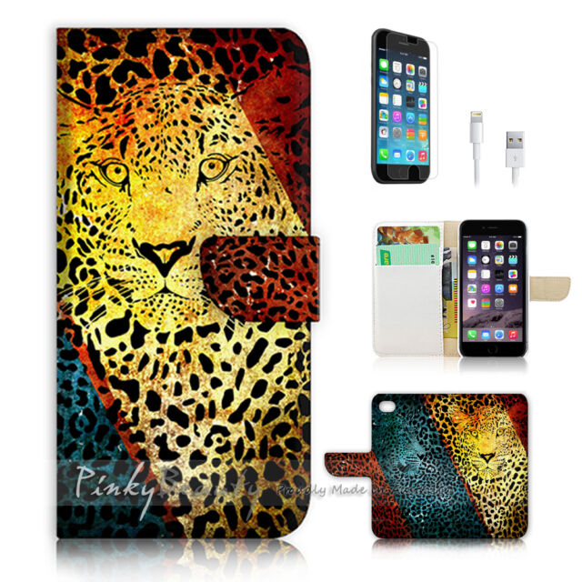 ( For iPhone 6 / 6S ) Wallet Case Cover! Leopard Skin Pattern P0494