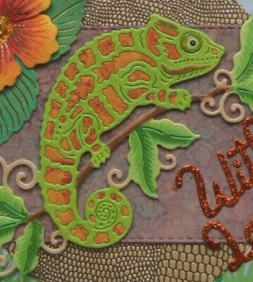 Chameleon Die SDD461 Nuevo: sweet Dixie Reptil Lagarto Camaleón Tropical