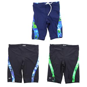 Speedo-Men-039-s-Circle-Sound-Spliced-Swimsuit-Jammer-Swim-Short-Trunks-8051218