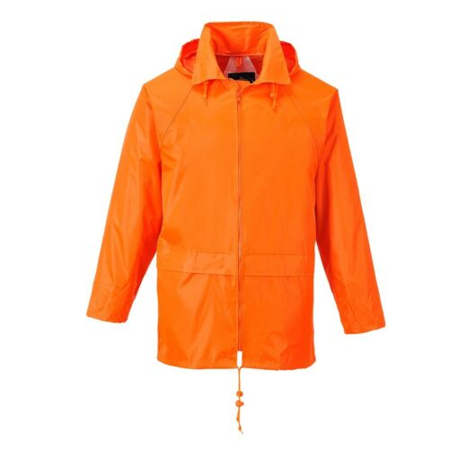 Mens Portwest Classic Rain Jacket Waterproof CoatS440