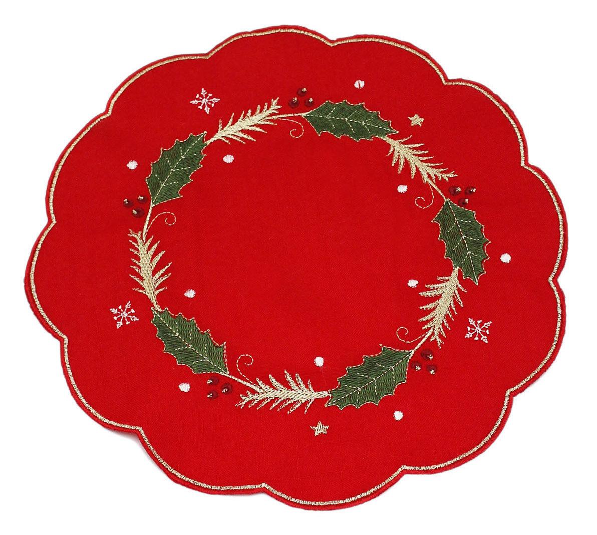 Rapire red Agrifoglio Natale Tovaglioli Tovagliette Runner da Tavolo o