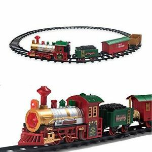 Pusiti Classic Electric Christmas Train Set for Under The ...