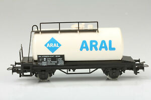 H0-Marklin-4440-Blanc-Aral-Wagon-Citernes-Boue-Rayures-Emballage-D-039-Origine