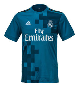 the latest 5ccd2 bd92f Details about Adidas 17-18 Real Madrid 3rd Jersey (BR3539) Football Club  Team Uniform Top