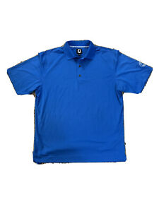 Mens-Medium-Footjoy-Short-Sleeve-Golf-Polo-Ocean-Blue-Salisbury-Country-Club