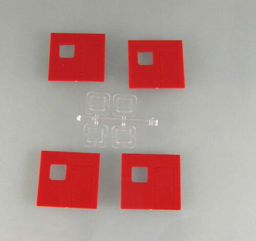 90 0002 19 NEU H0 4 Satz W50 Kofferrückwand mit Fenster rot