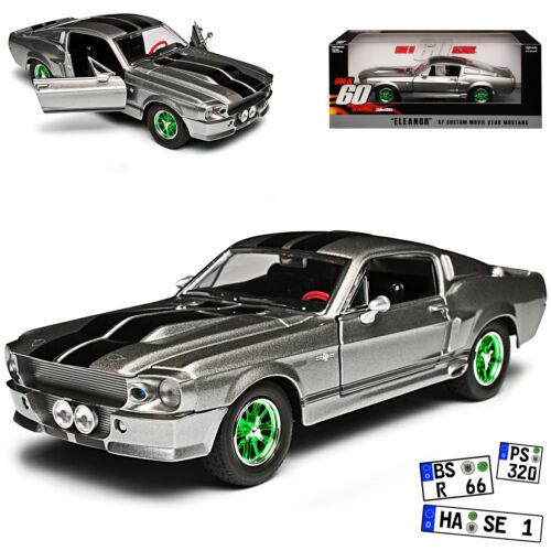 Ford Shelby Mustang GT500 Eleanor Nur Noch 60 Sekunden grüne Felgen 1//24 Greenli