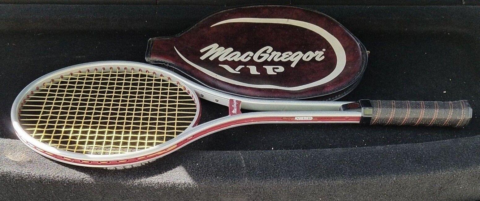 Raro Nuevo Viejo Stock  MacGregor VIP Raqueta  De Tenis hecho a mano en Italia Grip 4 5 8 Extra .  Garantía 100% de ajuste