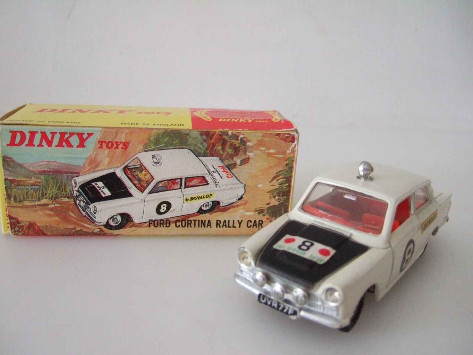 Original Dinky Spielzeug 212 Ford Cortina Rally VN Mint   Box