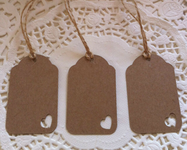 25 Handmade Vintage Style Gift Tags/Wedding Favour Tags