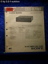 Sony Service Manual CDX R79VF CD Player (#3521)