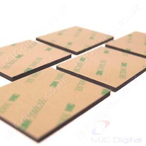 3M™ EVA Foam 54mm x 44mm x 3.2mm Double Sided Adhesive Tape Pad Mounting Black