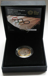 The Royal Mint 2008 Handover to London Silver Proof Piedfort £2 Coin